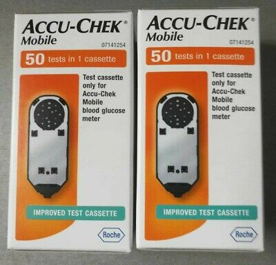 100x Brand-new Accu-Chek Mobile Blood Glucose Tests Cassettes separately sealed