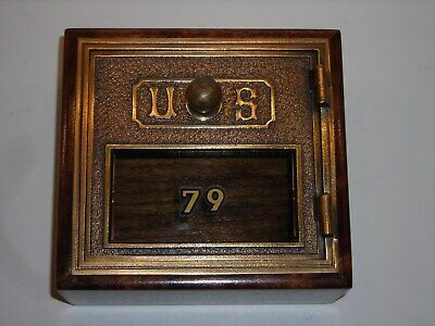 Antique Post Office Door Vintage Postal Jewelry Box Trinket Valet Tray Desk Mail