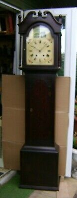 Antique Black Forest Grandfather Clock - 8 day.