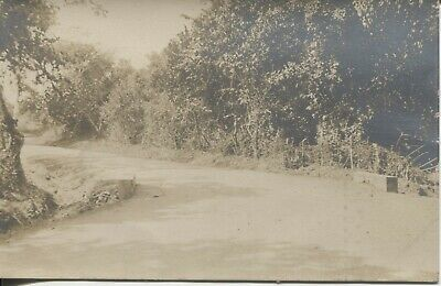 Real Photo Postcard RPPC Panama Canal Worker Photographer 1908-1910 Road View