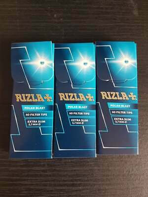 Rizla Polar Blast Filter Tips Extra Slim Menthol Smoking Crushball CHEAP
