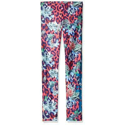 Adidas Girls Kids NEW Originals S Rose Full Length Cotton Blend Leggings