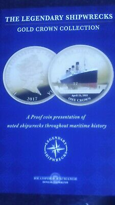 **RMS Titanic gold crown the legendary shipwreck**  New** coloured coin