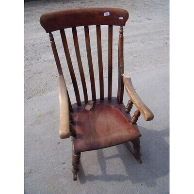 Antique Late Victorian/Edwardian C1900 Cottage Style Rocking Chair