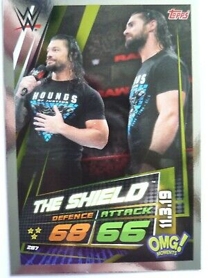 Topps Wwe Slam Attax Universe Omg The Sheild 11.03.19 Card Comb Post