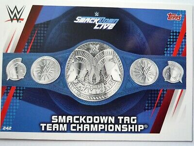 Topps Wwe Slam Attax Universe Title Belt Smackdown Tag Team Championship Card
