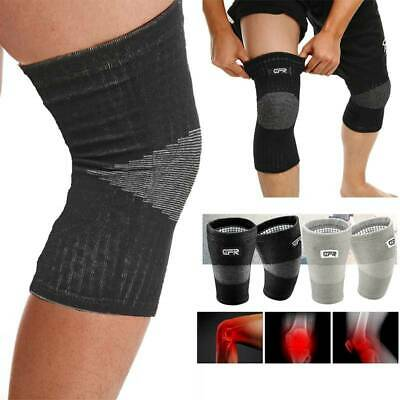 2*Knee Sleeve Compression Brace Patella Support Stabilizer Sports Gym Joint Pain