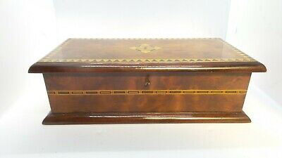 Superb ANTIQUE Victorian INLAID Glove box Marquetry panel Excellent condition