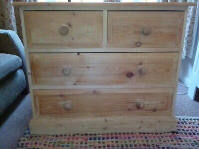 Solid Pine Chest of Drawers - 4 drawers