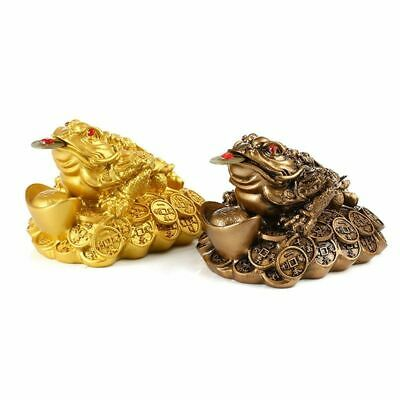 Fortune Lucky Gift Wealth Feng Shui Chinese Oriental Frog Home Decor Toad Coin