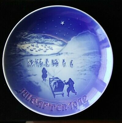 Christmas In Greenland.Bing Grondahl 1972 Christmas Plate Christmas In