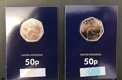 Jemima Puddleduck BU X 2 50p Fifty Pence Coin 2016 Beatrix Potter Uncirculated