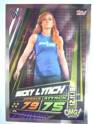 Topps Wwe Slam Attax Universe Omg Becky Lynch 12.11.18 Card Comb Post