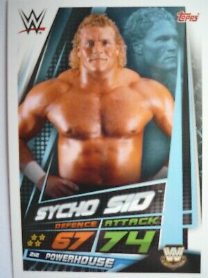 Topps Wwe Slam Attax Universe Legends Sycho Sid Card Comb Post