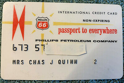 Old Vintage Phillips 66 Gas Credit Charge  Card