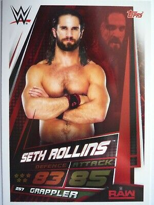 Topps Wwe Slam Attax Universe Seth Rollins Card Comb Post