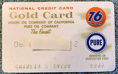 Old Vintage Union 76 Pure Gas Credit Charge  Card