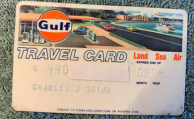 Old Vintage Gulf Travel Credit Charge Card