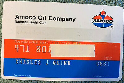 Old Vintage Amoco Credit Charge  Card