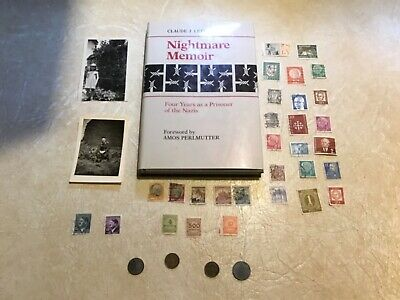 2 WW2 Germany Soldier PIC Swastika1941 30 STAMP Hitler BOOK NAZI Prisoner 4 YR