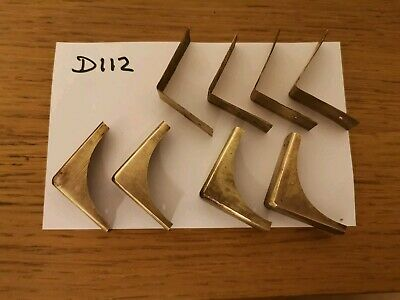Brass corner pieces x 8 for antique/vintage writing slope.