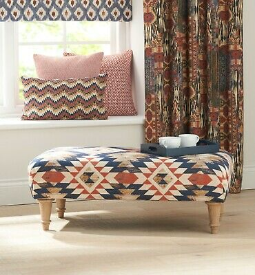 Handmade Large Footstool in Chess Designs NEW Apache fabric! Choose size & legs