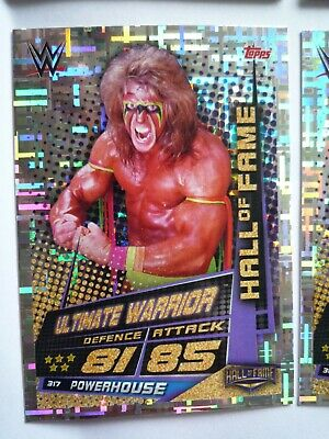 Topps Wwe Slam Attax Universe Hall Of Fame Ultimate Warrior Card Comb Post