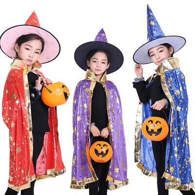 Halloween Cloak Cos witch Cloak Costume Adult Child Cloak Male Performance Suits