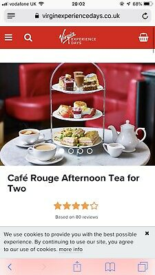 Virgin Experience Days Afternoon Tea For Two At Cafe Rouge
