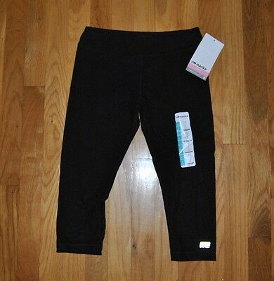 NWT GIRLS MARIKA TEK Black Performance Fitted Capris Leggings Sz L Large