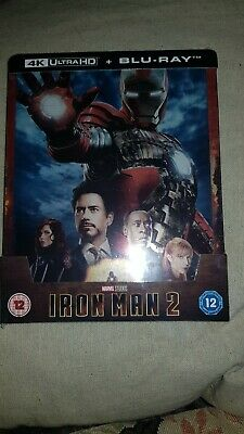 BLU RAY 4K + BLU RAY IRON MAN 2 STEELBOOK ZAVVI Neuf & emballé (VF incluse)