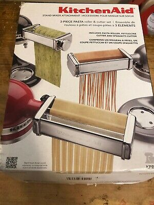 KitchenAid 3 Piece Pasta Roller & Cutter Attachment Set KPRA ~ Used Once!