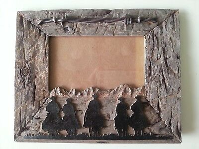 Range Riders Rustic Western Cowboy & Barbed Wire 4 x 6 Picture Photo Frame - NIB