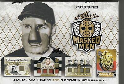 2015-16 Leaf Masked Men Hockey Hobby Sealed Box
