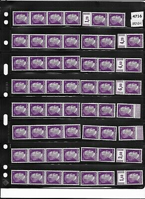 97  MNH stamps / Adolph Hitler stamps from One Mint sheet / Third Reich  All MNH