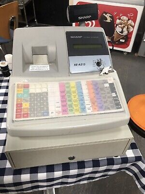 SHARP XE-A213 Electronic Cash Register Till Retail Shop Barely Used Boxed
