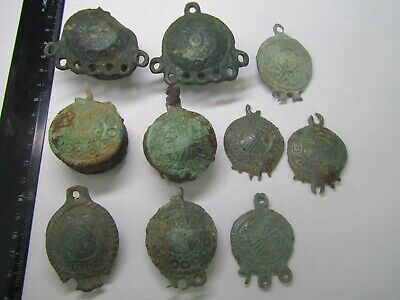 Ancient decorations, fragments of clothes 11th-12th century  100% original