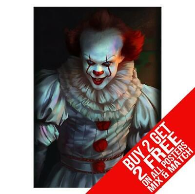 It Chapter 2 Pennywise Cc4 Poster Art Print A4 A3 Size - Buy 2 Get Any 2 Free