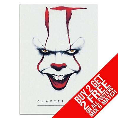 IT CHAPTER 2 PENNYWISE BB5 POSTER ART PRINT A4 A3 SIZE BUY 2 GET ANY 2 FREE