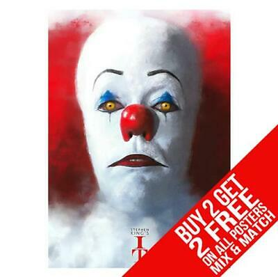 It Pennywise Cc8 Stephen King Poster Art Print A4 A3 Size - Buy 2 Get Any 2 Free