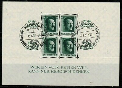 Germany #B104 S/Sheet of 4 1937 Used