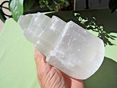 """Large SELENITE TOWER Rough 6"""" (inch) Morocco 1281g"""