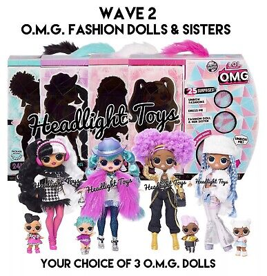 3 LOL Surprise OMG Fashion Dolls Cosmic Nova 24K DJ Snowlicious Dollie Preorder