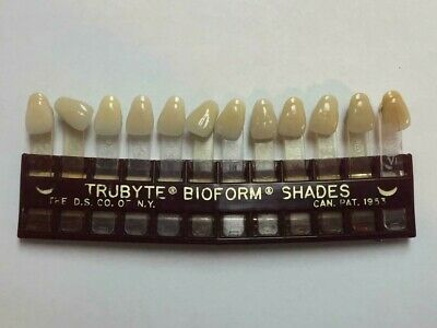 Trubyte Bioform Dental Limited Shade Guide Acrylic Porcelain Need Different Ones