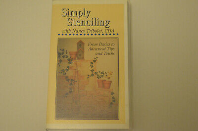 Simply Stenciling By Nancy Tribolet-- Vhs Tape Of Instructions