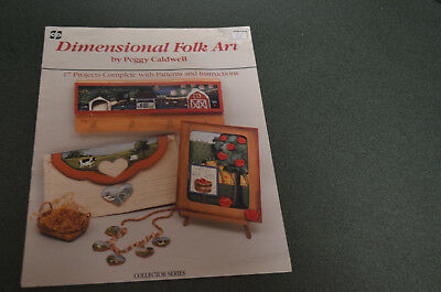 Tole Paint Booklet- Dimensional Folk Art By Peggy Caldwell