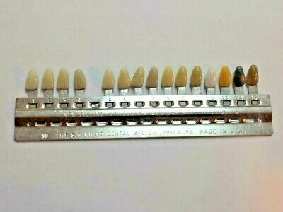 Vintage S.s. White Dental Porcelain Shade Guide  U Need Many Different Ones