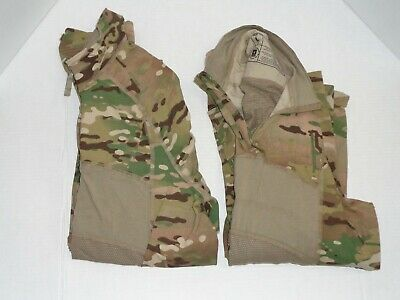 military surplus MULTI CAM MASSIF 1/4 ZIP ARMY COMBAT SHIRTS X2 FR SZ LARGE