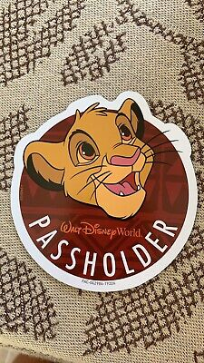 WDW Annual Passholder Simba Magnet Lion King  OFFICIAL WDW