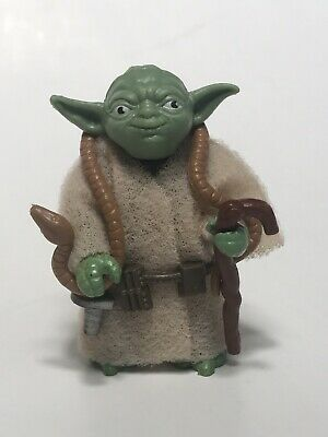 Vintage 1980 Kenner Star Wars Yoda with Brown Snake and Pac Man Eyes COMPLETE